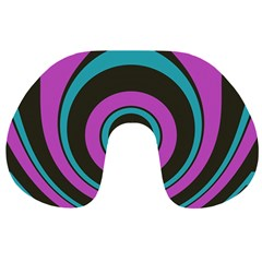 Distorted Concentric Circles Travel Neck Pillow