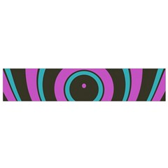 Distorted concentric circles Flano Scarf