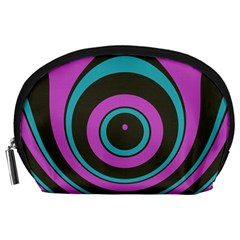 Distorted concentric circles Accessory Pouch