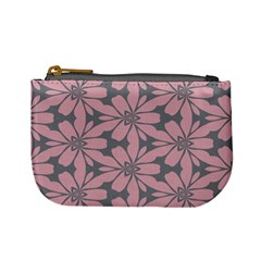 Pink Flowers Pattern Mini Coin Purse