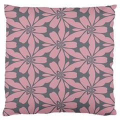 Pink Flowers Pattern Large Cushion Case (two Sides)