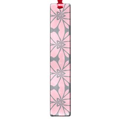 Pink Flowers Pattern Large Book Mark