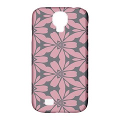 Pink Flowers Pattern Samsung Galaxy S4 Classic Hardshell Case (pc+silicone)