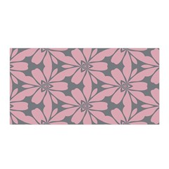 Pink Flowers Pattern Satin Wrap