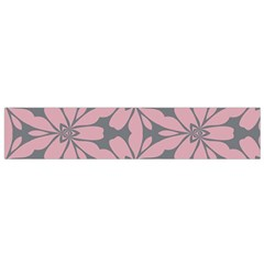 Pink flowers pattern Flano Scarf