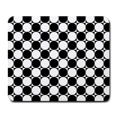 Black And White Polka Dots Large Mouse Pad (rectangle)
