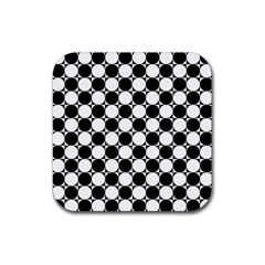 Black And White Polka Dots Drink Coaster (square)