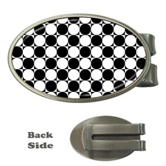 Black And White Polka Dots Money Clip (oval)