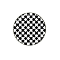Black And White Polka Dots Golf Ball Marker (for Hat Clip)