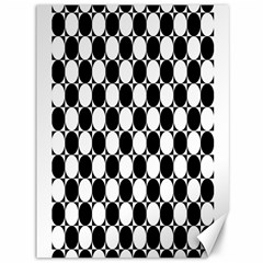 Black And White Polka Dots Canvas 36  X 48  (unframed)