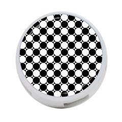 Black And White Polka Dots 4 Port Usb Hub (one Side)