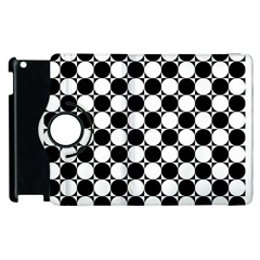 Black And White Polka Dots Apple Ipad 2 Flip 360 Case
