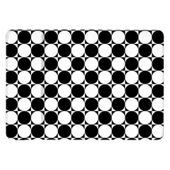 Black And White Polka Dots Samsung Galaxy Tab 8 9  P7300 Flip Case