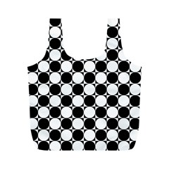 Black And White Polka Dots Reusable Bag (M)