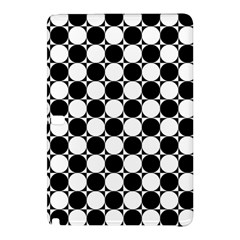 Black And White Polka Dots Samsung Galaxy Tab Pro 12.2 Hardshell Case