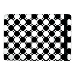 Black And White Polka Dots Samsung Galaxy Tab Pro 10.1  Flip Case