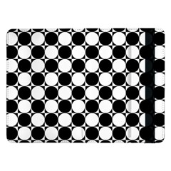 Black And White Polka Dots Samsung Galaxy Tab Pro 12.2  Flip Case