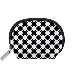 Black And White Polka Dots Accessory Pouch (small)