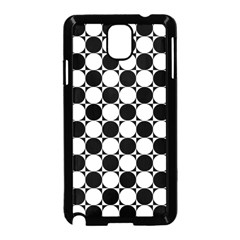 Black And White Polka Dots Samsung Galaxy Note 3 Neo Hardshell Case (Black)