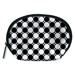 Black And White Polka Dots Accessory Pouch (Medium)