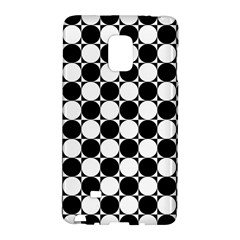 Black And White Polka Dots Samsung Galaxy Note Edge Hardshell Case