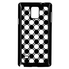 Black And White Polka Dots Samsung Galaxy Note 4 Case (black)