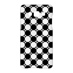 Black And White Polka Dots Samsung Galaxy A5 Hardshell Case
