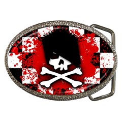 Emo Skull Belt Buckle (oval)
