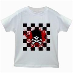 Emo Skull Kids T-shirt (White)