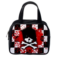 Emo Skull Classic Handbag (one Side)