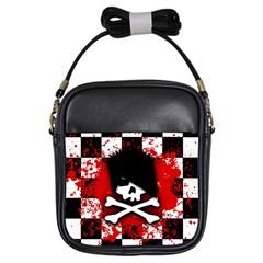 Emo Skull Girl s Sling Bag