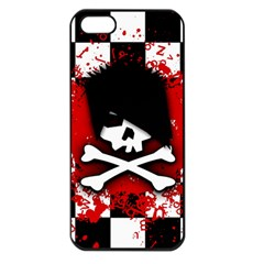 Emo Skull Apple Iphone 5 Seamless Case (black)