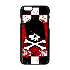 Emo Skull Apple iPhone 6 Black Enamel Case