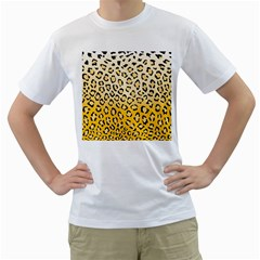 Selina Leopard1 Men s Two-sided T-shirt (White)
