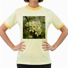 Spring Flowers Women s Ringer T-shirt (Colored)