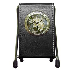 Spring Flowers Stationery Holder Clock