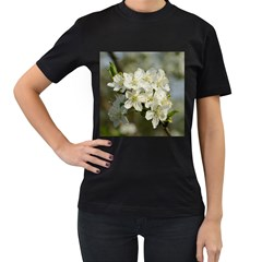 Spring Flowers Women s Two Sided T-shirt (Black)