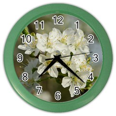 Spring Flowers Wall Clock (color)