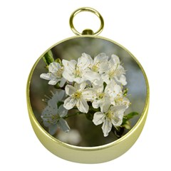 Spring Flowers Gold Compass