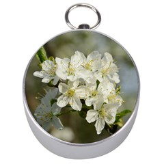 Spring Flowers Silver Compass