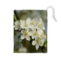 Spring Flowers Drawstring Pouch (large)