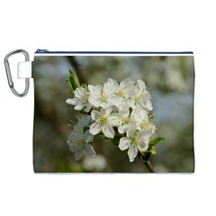 Spring Flowers Canvas Cosmetic Bag (XL)