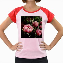 Tulips Women s Cap Sleeve T-Shirt (Colored)