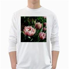 Tulips Men s Long Sleeve T-shirt (White)