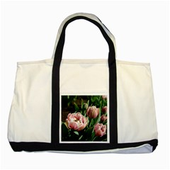 Tulips Two Toned Tote Bag