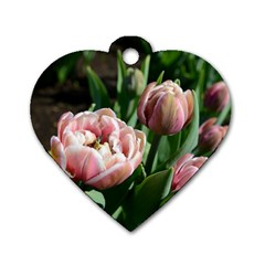 Tulips Dog Tag Heart (one Sided)
