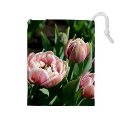 Tulips Drawstring Pouch (large)