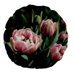 Tulips Large 18  Premium Flano Round Cushion