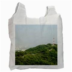 Seoul White Reusable Bag (one Side)