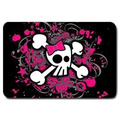 Girly Skull And Crossbones Large Door Mat